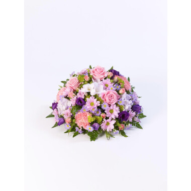 CLASSIC POSY - LILAC AND PINK - FUNERAL